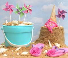 Beach themed cake by Lynette Brandl