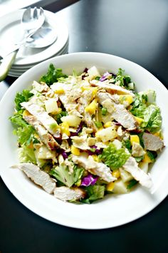 A fabulous Caribbean Salad with grilled chicken, mango salsa and fresh honey orange vinaigrette that highlights seasonal fresh produce. Get your kids into the kitchen to help you whip up a meal that will help you eat the rainbow and expand their palates.