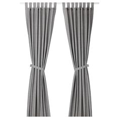 IKEA LENDA Curtains with tie-backs, 1 pair Grey 140 x 250 cm The curtains lower the general light level and provide privacy by preventing people outside from seeing directly into the room. Ikea Curtains, Curtains With Blinds, Sheer Curtains, Panel Curtains, Gray Curtains, Bedroom Curtains, Curtain Wire, Curtain Tie Backs, Curtain Rods