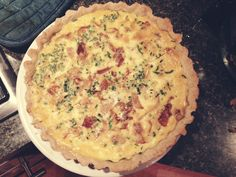 Goat cheese and onion quiche