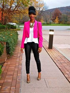 peplum outfit tumblr | Leather & Peplum with Target - Leather pants, Forever 21 - jacket ...