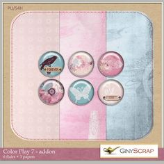 Quality DigiScrap Freebies  ~~~Color Play 7 tiny kit freebie from Giny Scrap