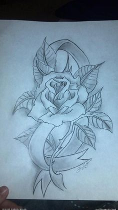 20 Ribbon Rose With Name Tattoo Ideas And Designs