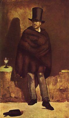 """""""Il bevitore d'assenzio"""" di Édouard Manet, 1859."""