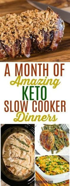 keto recipes Slow cookers are great because you basically dump your stuff in and forget it until serving time. These 35 inspired Keto slow cooker recipes will wo Crock Pot Recipes, Keto Crockpot Recipes, Ketogenic Recipes, Diet Recipes, Best Keto Meals, Recipies, Keto Frozen Meals, Vegetarian Recipes, Crockpot Ideas