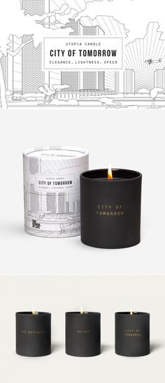 Utopia Candle: City of Tomorrow — The Dieline | Packaging & Branding Design & Innovation News