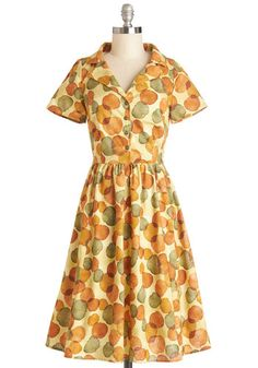 Paint a Picturesque Dress in Leaves, #ModCloth