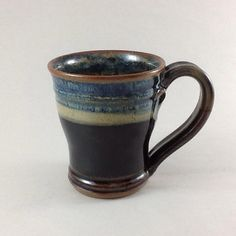 Pottery Cup Ceramic Mug Hand-work by CharlotteLeePottery on Etsy