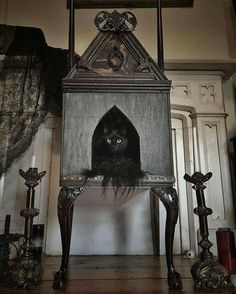 Gothic Shabby Chic Cat Bed