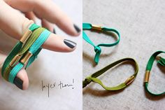How to: make your own jazzed up hair ties (anthro has a similar thing with more glitzy beads)