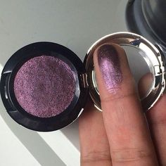 """loveyourmakeup: """"barbiedrugstore: """"NYX Punk Heart prismatic eyeshadow """" This colour would go so well with brown eyes; Beautiful metallic purple and so pigmented. Pretty Makeup, Love Makeup, Beauty Makeup, Makeup Course, Skin Makeup, Eyeshadow Makeup, Eyeshadows, Punk Makeup, Maybelline Eyeshadow"""