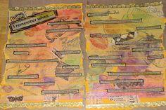 cool technique.  Art Journal #8 - Stamped Masking Tape 011 by ronijj, via Flickr