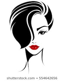 Imagens fotos stock e vetores similares de illustration of women long hair with a hat retro logo women face on white background vector - 501309841 Shutterstock Drawing Sketches, Pencil Drawings, Art Drawings, Arte Fashion, Poster S, Woman Illustration, Silhouette Art, Short Hairstyles For Women, Woman Face