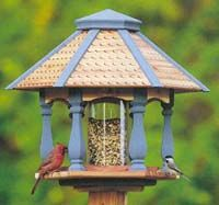 Info on birdfeeders and making nesting boxes including chart with box hole dimensions