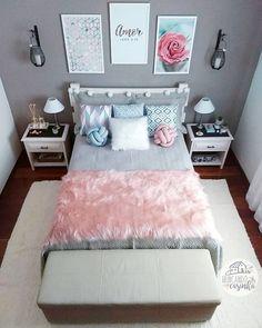 157 cozy teen girl bedroom design trends for 2019 58 Teen Bedroom Designs, Bedroom Decor For Teen Girls, Room Ideas Bedroom, Small Room Bedroom, Home Bedroom, Modern Bedroom, Bedroom Wall, Unique Teen Bedrooms, Bedroom Ideas For Small Rooms For Teens For Girls