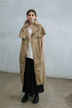 Short-sleeved trench | Y's - Yohji Yamamoto S/S 2014