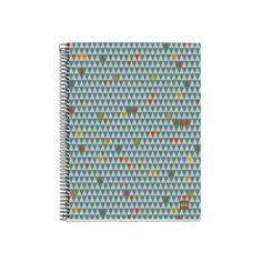 Libreta de papel reciclado triángulos - Cero Residuo Tienda Online Recycling, Notebook, Dental Floss, Remainders, Spirals, Jars, Paper Envelopes, Organize, Exercise Book