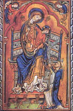 Virgen con el Niño (Inglaterra, siglo XIII). Su autor, Mateo Paris, fusiona la tradición bizantina con las nuevas formas del gótico francés. Hace gala de una extremada delicadeza y bondad en el rostro de las figuras, como esta Virgen con el Niño que se conserva en la catedral de Chichester.