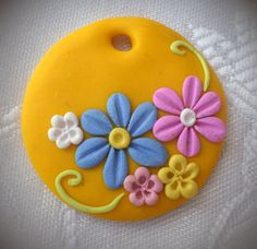 Handmade Polymer clay pendant necklace by HandmadeMemoriesLis