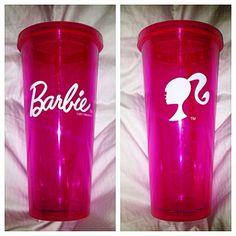 Pink Barbie cup<3