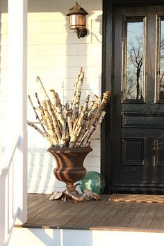 Another winter front porch idea!