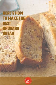 This is quite a good bread - our family really enjoys it! It's also very quick and easy to prepare, once you have the rhubarb diced. —Grace Capen, Sacramento, California