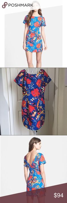 Plenty by Tracy Reese Frankie shift dress Chintz floral Frankie short sleeve shift dress. Vivid primary colors cast a short and sweet shift in an energetic floral print.  •Imported  •Dry Clean Only  •Large-scale floral sheath with bateau neckline and short sleeves  •Concealed back zipper Plenty by Tracy Reese Dresses