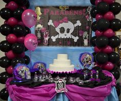 Detalhes da Decoração de Festa Monster High #decoracao #decoration #monsterhigh #monster  #festa #party