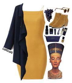 """Nefertiti"" by ritaflagy ❤ liked on Polyvore featuring AX Paris, Longchamp, Butter London, Skin & Bones and Estée Lauder"