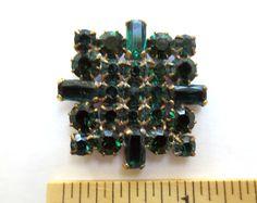 Elegant Vintage Style Czech Rhinestone Glass Button Emerald Green Glass Stones | eBay