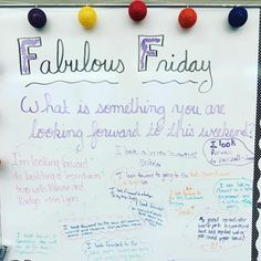 Fabulous Friday! All of us were looking forward to the weekend.  #teachersofig #teachersfollowteachers #miss5thswhiteboard