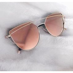 Rose Reflector Sunnies ($25) ❤ liked on Polyvore featuring accessories, eyewear, sunglasses, sports eyewear, lens glasses, rose gold glasses, sports sunglasses and rose gold sunglasses