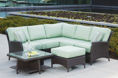 Ratana Palm Harbor Outdoor Sectional. To view more pieces visit our website www.rattanplus.ca