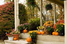 Autumn Front Porch Decorations