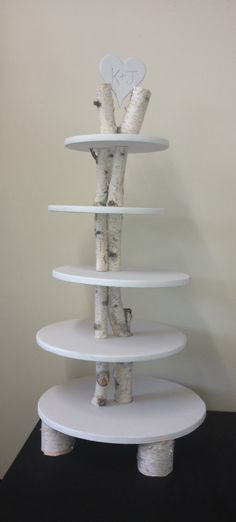 Birch Tree Wedding Tier for cupcakes    Great for an outdoor wedding