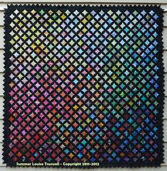 2013 Traditional Mixed - Association of Pacific West Quilters Quilt by Summer Truswell Cathedral window Cathedral Window Quilts, Cathedral Windows, Pacific West, Quilt Festival, Cross Stitching, Web Design, My Love, Track, Quilting