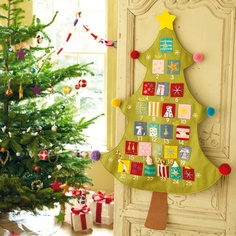 Christmas Tree Advent Calendar - This beautifully made, felt advent calendar has pretty stitching and sweet little pockets for hiding Christmas sweeties in.  It's sure to keep your children happy year after year.