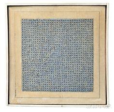 Agnes Martin (Canadian/American, 1912-2004) Blue Flower, 1962