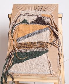 Cardboard weaving!