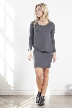Stella Long Sleeve T-Shirt Dress Storm
