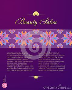Vector Ornamental Lotus Flower Spa Gold Card. Price list for beauty salon
