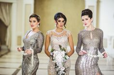 We loved creating this Reverie Gallery luxury glam wedding inspiration shoot at Aria in Connecticut, photographed by Danny Kash Photography. Sparkles Glitter, Bridesmaid Dresses, Wedding Dresses, Luxury Wedding, Wedding Blog, Wedding Inspiration, Gallery, Photography, Studio