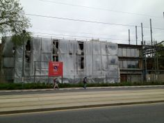 Getting ready for demolition at 282 St Clair Avenue West, future home of The Code Condos