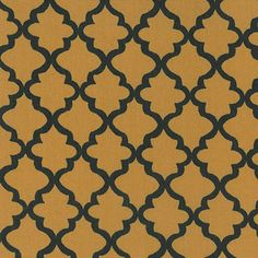 Fabric Finder's Inc. Print #1841 Gold and Black Quatrefoils #fabric #sewing #quatrefoil #sew #quatrefoilfabric #fabricdesign #fabricideas