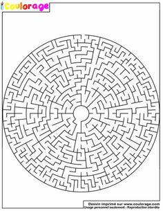 Dessin à imprimer de labyrinthe
