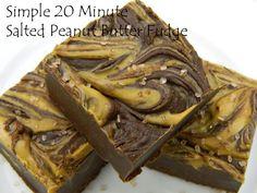 Simple 20 Minute Salted Peanut Butter Fudge