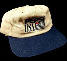 Official  PEPSI  US  USA  PEPSIUSA  America  HAT  Flag · Flag LogoPepsi  ColaBaseball ... 42d6c426c674