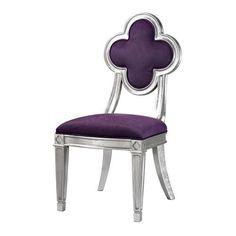 Petal Back Dining Chair In Purple - 136-011