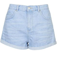 TOPSHOP PETITE Rosa Denim Shorts ($41) ❤ liked on Polyvore featuring shorts, bottoms, short, topshop, bright blue, petite, denim shorts, zipper shorts, topshop shorts and petite shorts