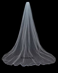 Long Cathedral wedding veil 1 tier full bridal by foreverveils